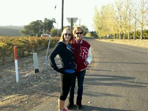 Mother and me :) So damn cold!!!