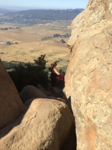 I'm the only crazy one going up these rocks