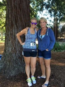 Pre-race with mom