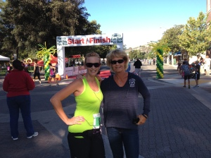 Mom and I between races last year