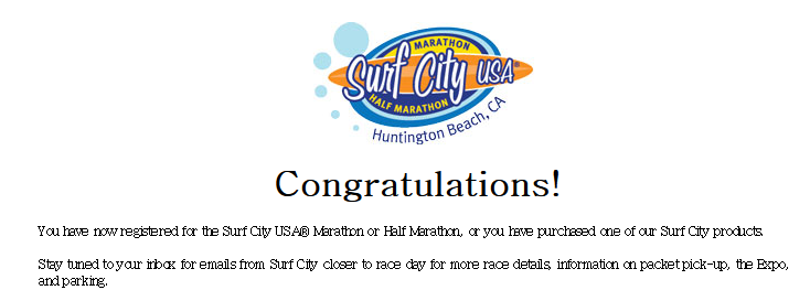 Surf City USA Marathon and Half Marathon - California's Classic Oceanfront Marathon and Half Marathon
